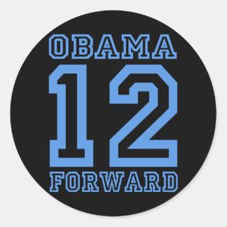 Obama 12 adelante pegatinas redondas