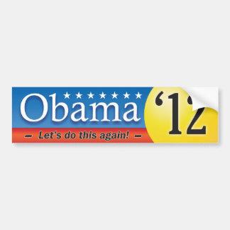 Obama '12 etiqueta de parachoque