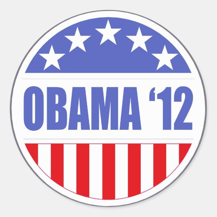 Obama '12 classic round sticker