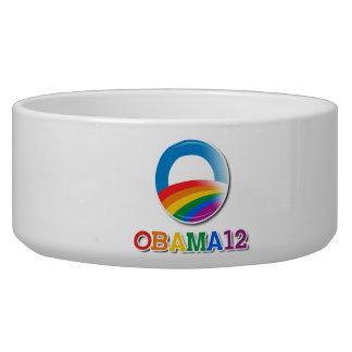 Obama 12 - dog food bowls