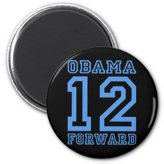 Obama 12 forward 2 inch round magnet