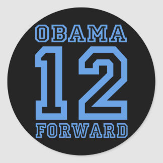 Obama 12 forward classic round sticker