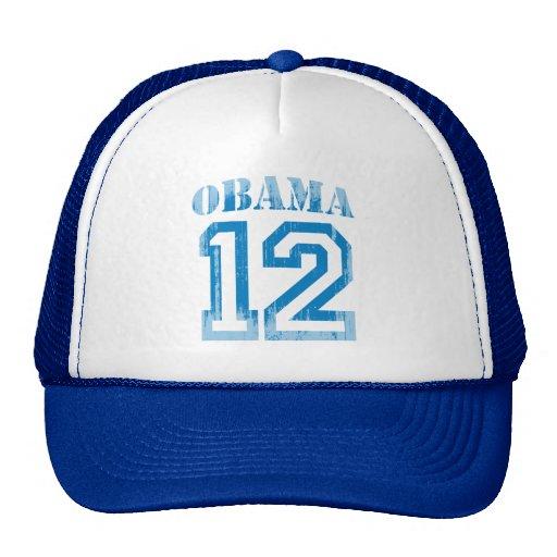 OBAMA 12 JERSEY BLUE Vintage.png Trucker Hat