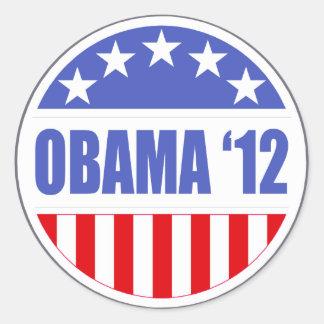 Obama '12 etiquetas redondas