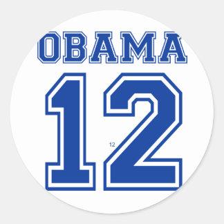 Obama 12 etiquetas redondas