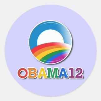 Obama 12 - pegatina redonda