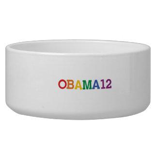 OBAMA 12 RAINBOW -.png Dog Food Bowls