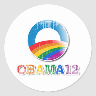 Obama 12 - Vintage.png Etiquetas Redondas