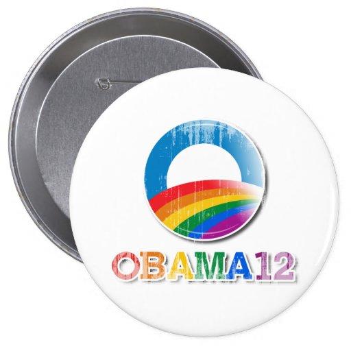 Obama 12 - Vintage.png Pin Redondo 10 Cm