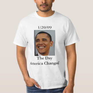 ¡Obama 1/20/09, el día América cambiada! Playeras