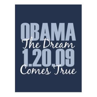 Obama 1-20-09 el sueño viene postal verdadera