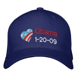 Obama, 1-20-09 embroidered hat