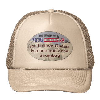 obama 1 and done scumbag trucker hat