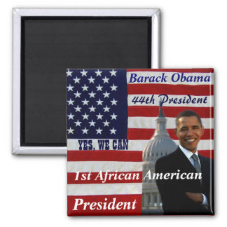 Obama 1r afroamericano President_Magnet Imán De Nevera
