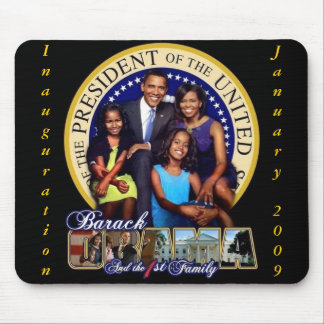 OBAMA-1ST FAMILY-Mousepad Mouse Pad