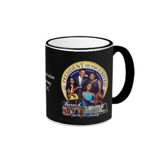 OBAMA-1ST FAMILY-Mug Ringer Coffee Mug