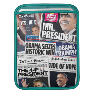 Obama 2008/2012 Front Pages iPad Sleeve