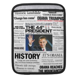Obama 2008/2012 manga del iPad del título Fundas Para iPads