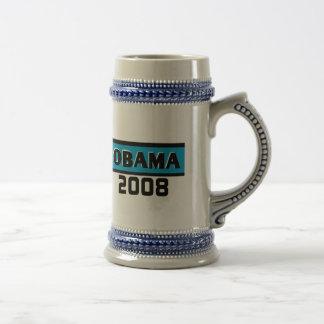 Obama 2008 Blue Stripe  Mug