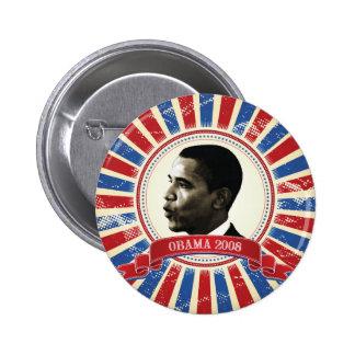 Obama 2008 Circle Burst Button 61027