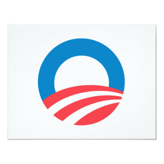 Obama 2008 O 4.25x5.5 Paper Invitation Card