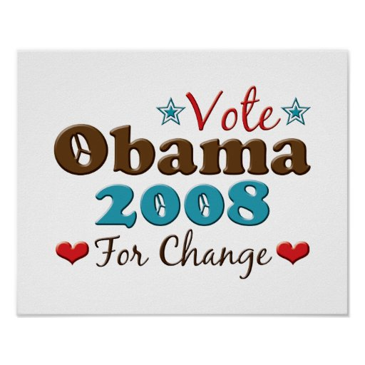 Obama 2008 para el poster del cambio