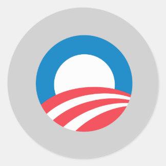 Obama 2008 pegatina redonda
