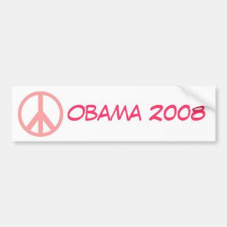 Obama 2008 Pink Peace Bumper Sticker Car Bumper Sticker