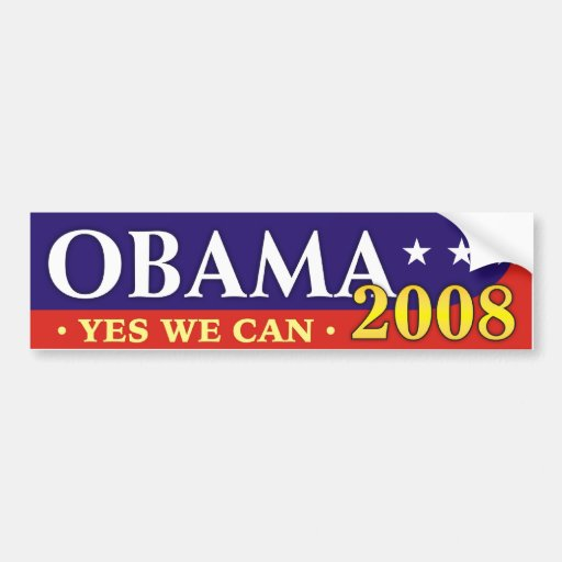 Obama 2008 - Yes we can! Bumper Stickers