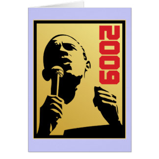 Obama 2009 card