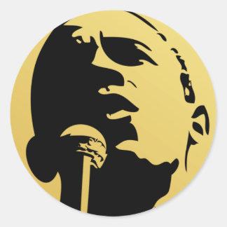 Obama 2009 pegatina redonda