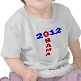 Obama 2010, formación de T, azul y rojo Camiseta