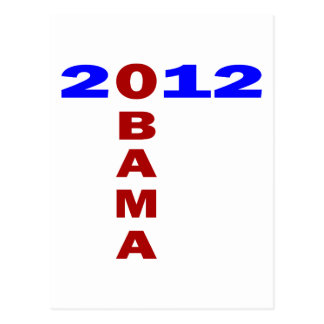 Obama 2010, T Formation, Blue And Red Postcard