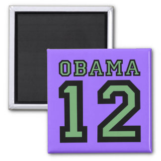 Obama 2012 2 inch square magnet