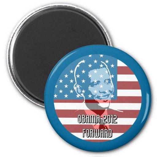Obama 2012 adelante iman de frigorífico