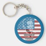 Obama 2012 adelante llaveros personalizados