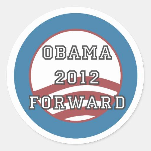 obama 2012 adelante pegatina redonda
