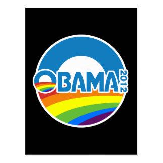 Obama 2012 arco iris del orgullo gay postal