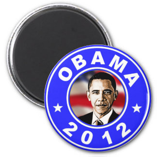 Obama 2012 - Azul Imán Redondo 5 Cm