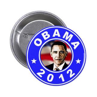 Obama 2012 - Azul Pin Redondo De 2 Pulgadas