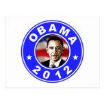 Obama 2012 - Azul Tarjeta Postal