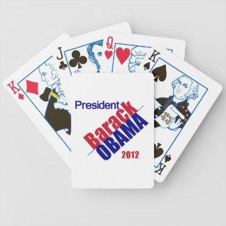 Obama 2012 barajas de cartas