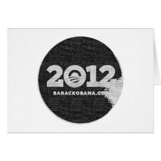 Obama 2012 Black and White Design Card