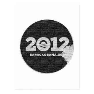 Obama 2012 Black and White Design Postcard