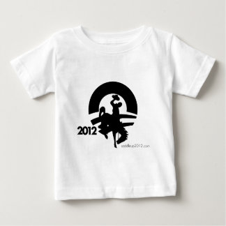 Obama 2012, Black in the Saddle Again Baby T-Shirt