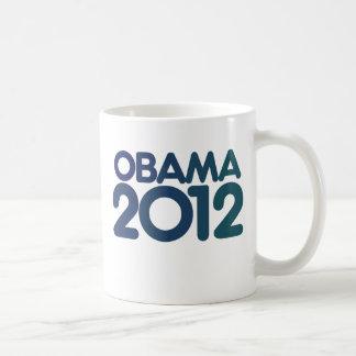 Obama 2012 blue design coffee mug