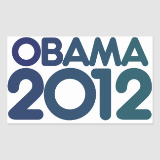 Obama 2012 blue design rectangular sticker
