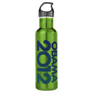 Obama 2012 blue design stainless steel water bottle