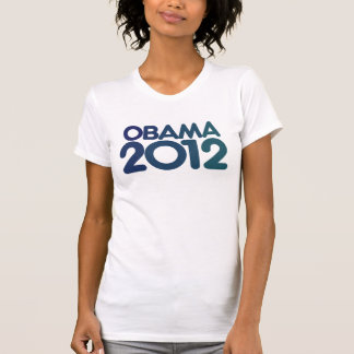 Obama 2012 blue design t shirt