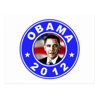 Obama 2012 - Blue Postcard